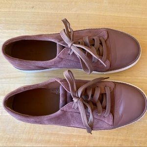 Caslon Suede and Leather Mauve Lace Up Sneakers